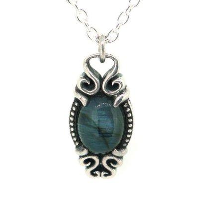 [ラブラドライト ネックレス]holy water pendant|Ark silver accessories(アークシルバーアクセサリーズ)