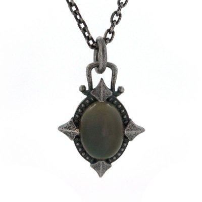 [グレームーンストーン ネックレス]silent moon pendant|Ark silver accessories(アークシルバーアクセサリーズ)