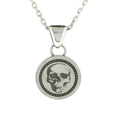 【スカル&クロスペンダント】reverse coin pendant|Ark silver accessories(アークシルバーアクセサリーズ)