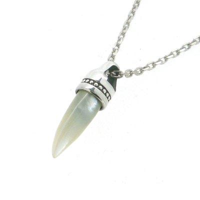 画像1: [ゴールデンボンバー歌広場淳さん着用] white fang pendant