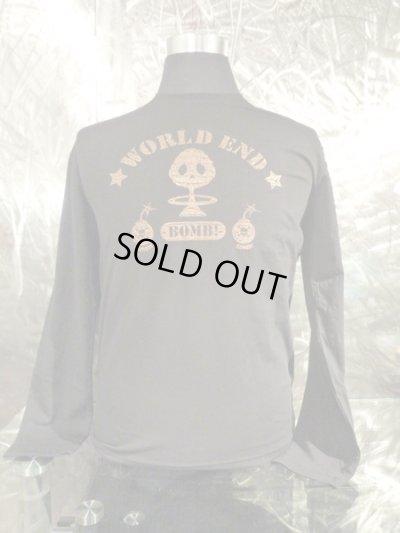画像2: アークシルバーアクセサリーズ/WORLD END 煙スカル ロングTシャツ