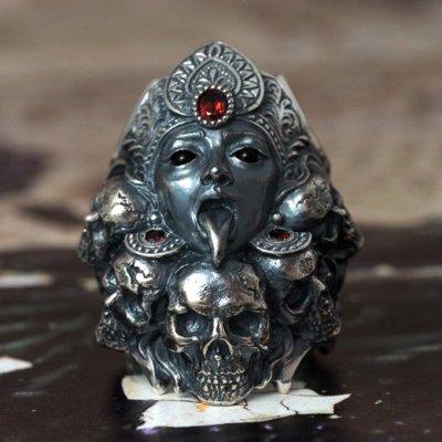 悪鬼を喰らう黒き女神カーリーのシルバーリング|Guardia/ガルディア