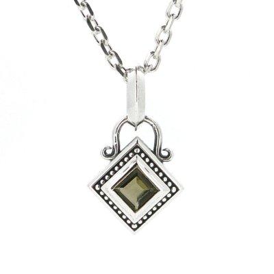 アミュレットストーンペンダント(スモーキークォーツ)|Ark silver accessories(アークシルバーアクセサリーズ)