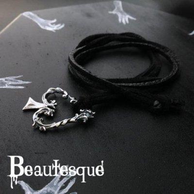 [スペード レザーネックレス] Spade|Beautesque(ビュウテスク)