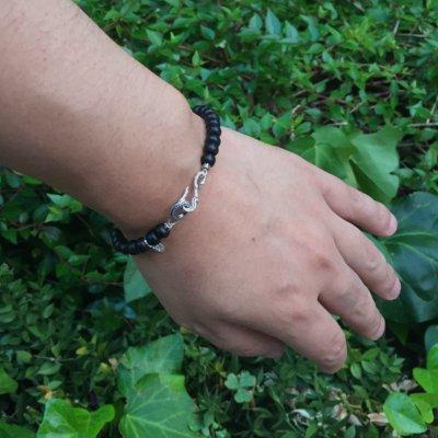 バッファローホーン Sフック ブレスレット / Ark silver accessories