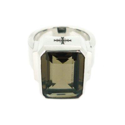 ジュエルリング(スモーキークォーツ) / Ark silver accessories