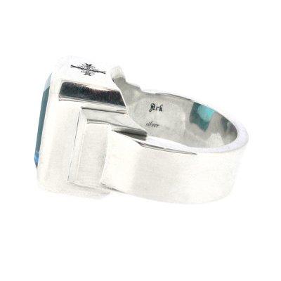 ジュエルリング(ブルートパーズ) / Ark silver accessories