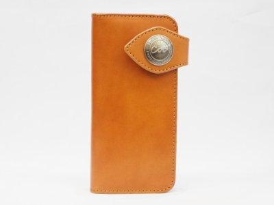 ライダースロングウォレット01(キャメル)[牛革 長財布]/レザーファクトリーCoo