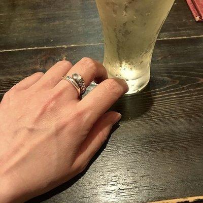 アイビー・スパイラル・リング・オーバル・ブラックCZ / ZOCALO(ソカロ)