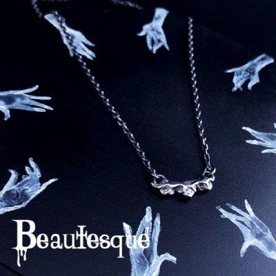[シルバーネックレス] Rose necklace Beautesque(ビュウテスク)