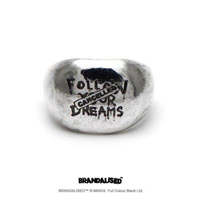"""[ブランダライズド 公式コラボアクセサリー] Banksy """"Follow Your Dreams """" Ring/バンクシー フォローユアドリームズ シルバーリング 【cooldust×BRANDALISED™ 】"""