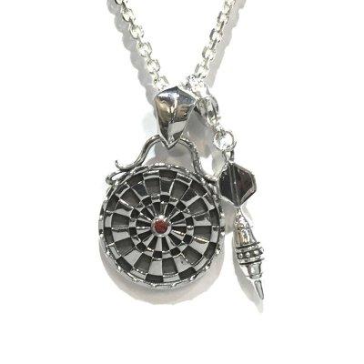 【ダーツ】ターゲットペンダント|Ark silver accessories(アークシルバーアクセサリーズ)