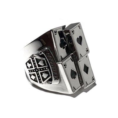 【トランプ】4カードリング / Ark silver accessories