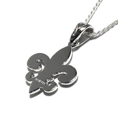 【ハワイアンジュエリー】百合の紋章 シルバー925 リリーペンダント