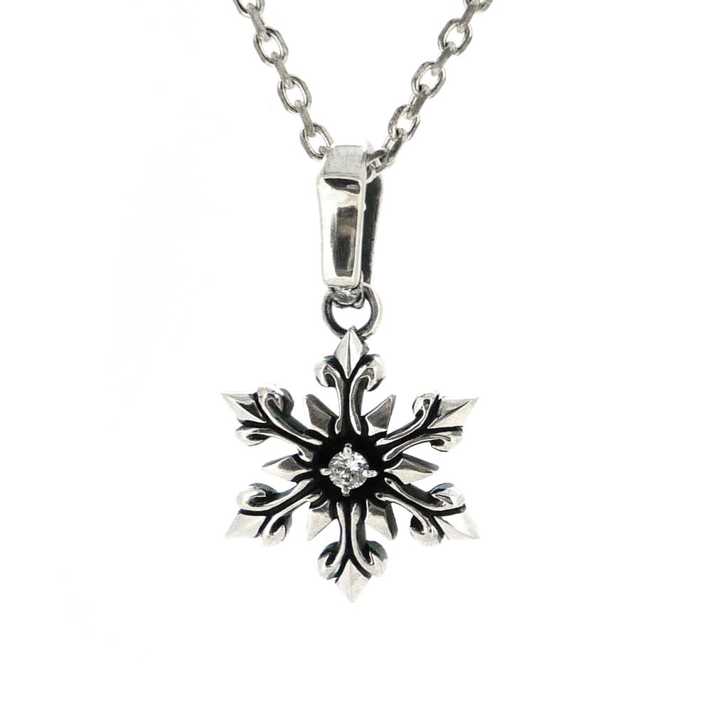 b9ac30e9e3434 クールダスト  雪の結晶 シルバーネックレス  snowflake type TS ...